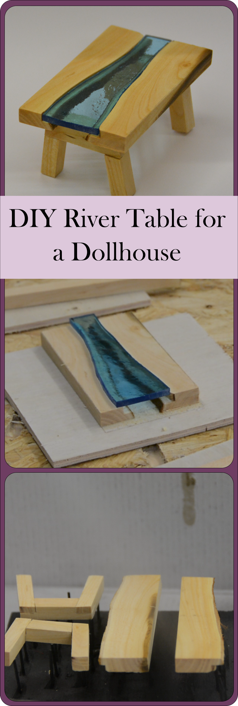 How to create a river table for a dollhouse - complete building instructions with video.