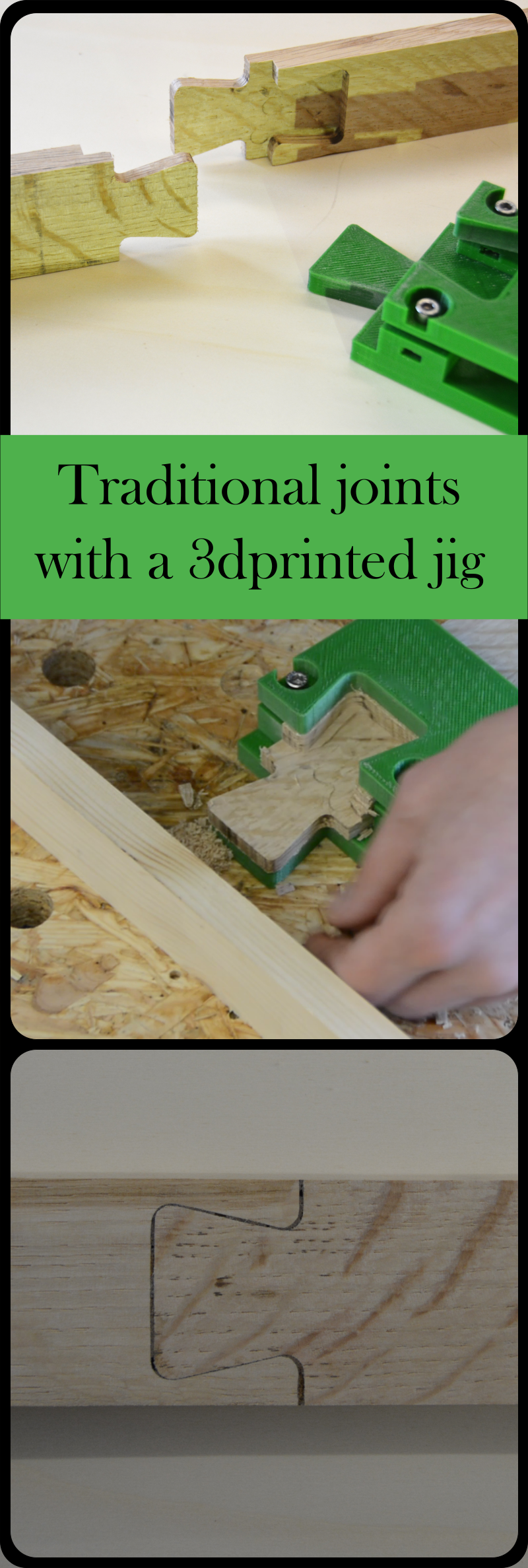 Traditional German joinery is simple with this free 3dprinted jig