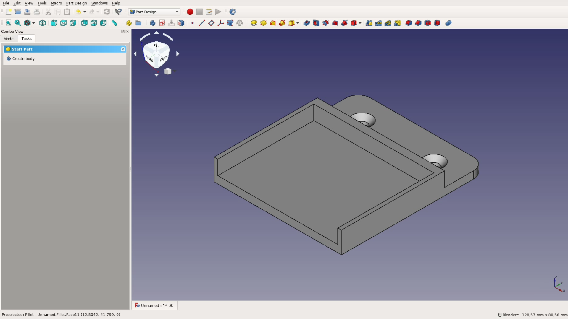 3dprinted power strip mount and FreeCAD tutorial - Way of Wood