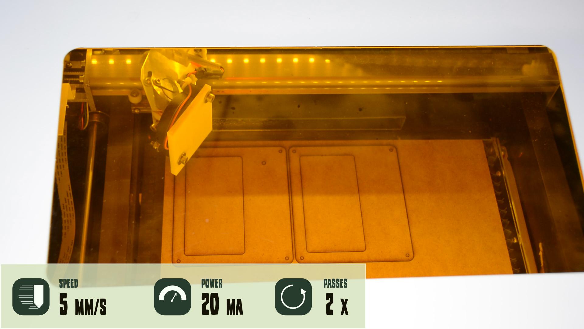 DIY SciFi birthday invitation card on the K40 laser - Way of Wood