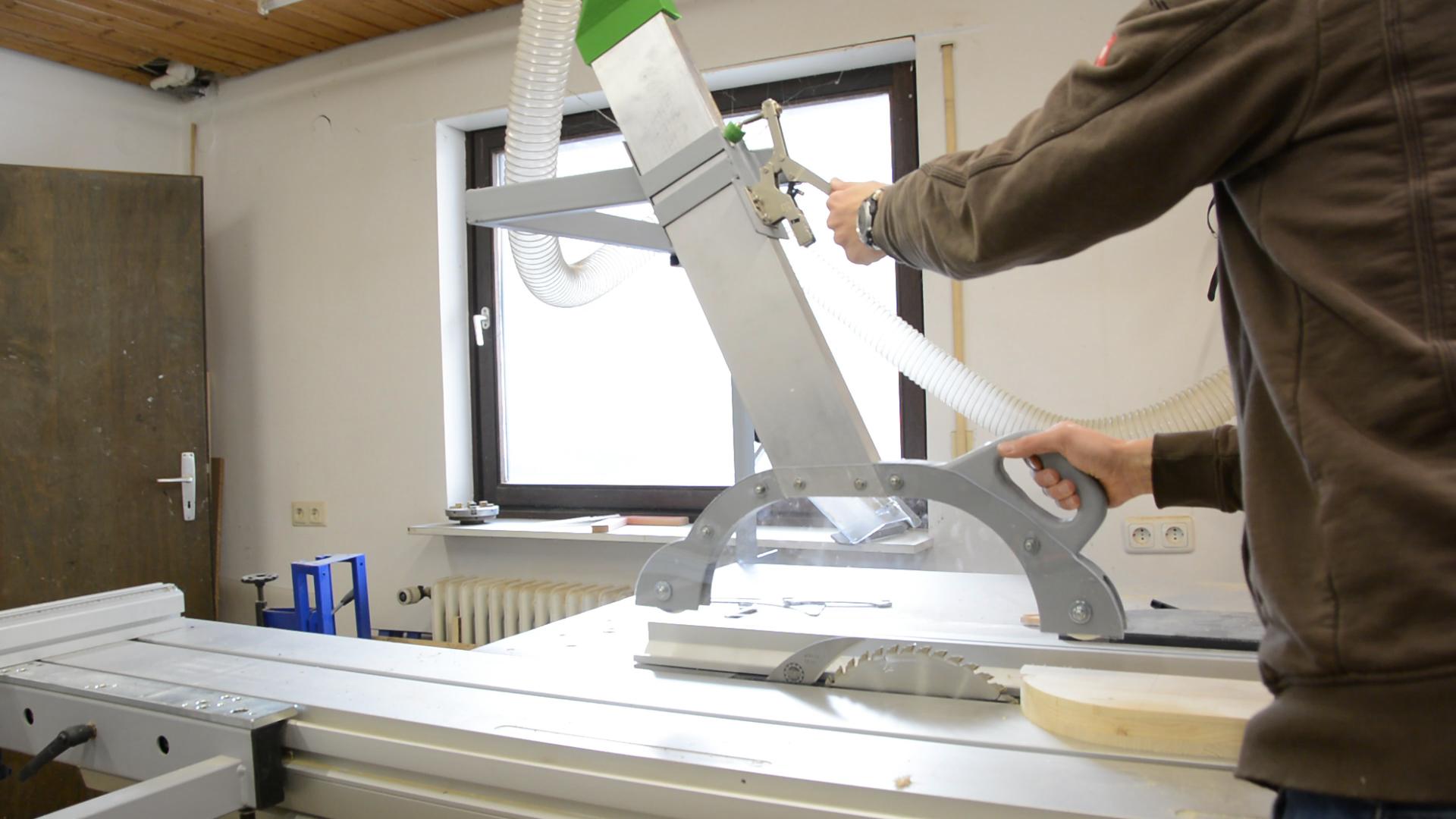 diy tablesaw overhead blade guard - way of wood